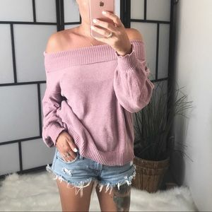 Sweaters - 🆕 ABBY Off Shoulder Chenille Sweater